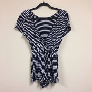 Rolla Coster Pants - Nautical, striped romper